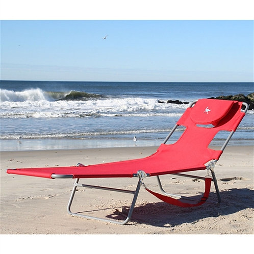 Home > Outdoor > Beach Chairs > Red Chiase Lounge Beach Chair with Face Cavit