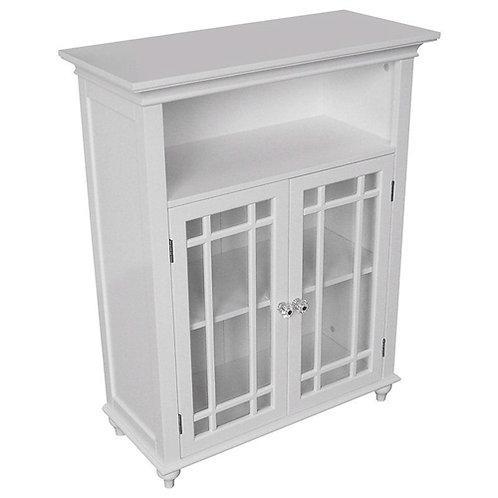 Home > Bathroom > Bathroom Cabinets > Classic White Wood 2-Door Bathroom Floo