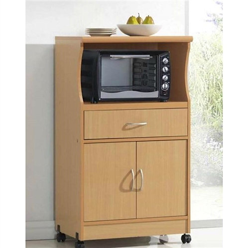 Home > Kitchen > Kitchen Carts > Beech Wood Microwave Cart Kitchen Cabinet wi