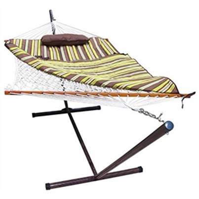 Home > Outdoor > Outdoor Furniture > Hammocks > Rope Hammock Set with Stand P