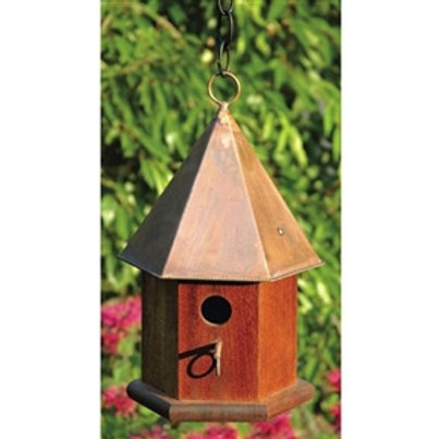 Home > Outdoor > Outdoor Decor > Bird Houses > Solid Mahogany Wood Songbird B
