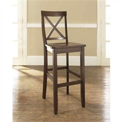 Home > Dining > Barstools > Set of 2 - X-Back 30-inch Solid Wood Barstool in