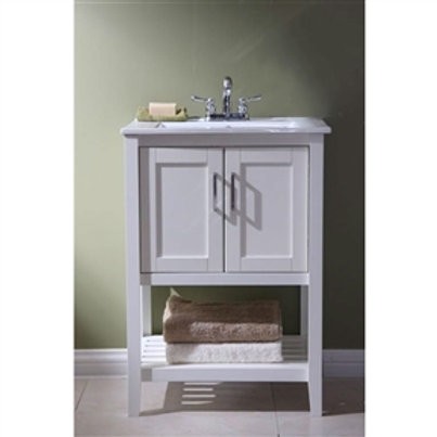 Home > Bathroom > Bathroom Vanities > 23-inch Bathroom Vanity Set with White