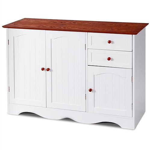 Home > Dining > Sideboards & Buffets > White Wood Sideboard Buffet Cabinet wi