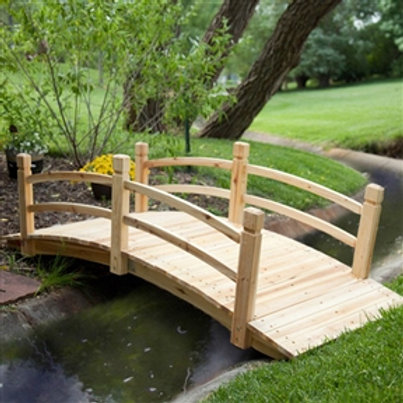Home > Outdoor > Garden Bridges > Classic 6-Ft Garden Bridge in Unfinished Fi