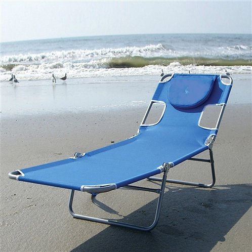 Home > Outdoor > Beach Chairs > Blue Chaise Lounge Beach Chair with Rustproof