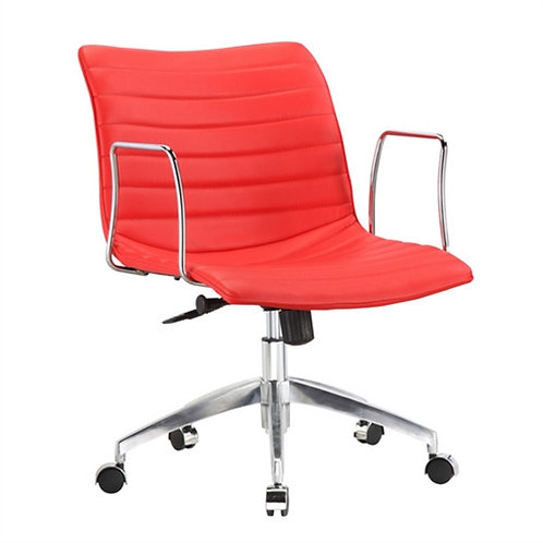 Home > Office > Office Chairs > Red Faux Leather Upholstered Mid-century Mode