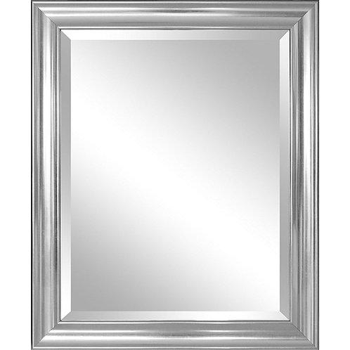 Bathroom Mirror with Silver Frame - Hangs Vertically or Horizontally