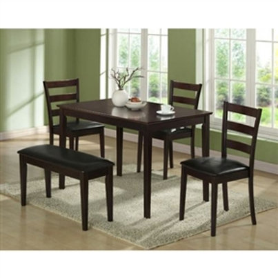 Home > Dining > Dinette Sets > 5-Piece Dining Set in Cappuccino Finish