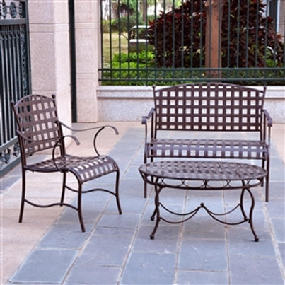 Home > Outdoor > Outdoor Furniture > Patio Furniture Sets > 3-Piece Wrought I