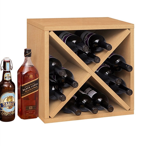 Home > Kitchen > Wine Racks and Coolers > Stackable 12-Bottle Wine Rack in Na