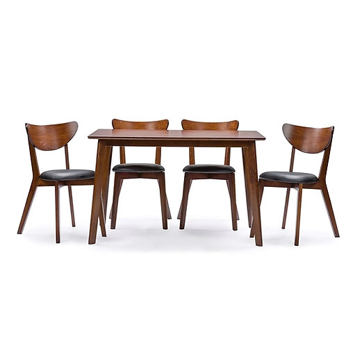 Home > Dining > Dining Sets > Modern Mid-Century Style 5-Piece Dining Set in