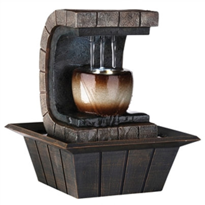 Home > Accents > Fountains > 9.75-inch Indoor Meditation Table Fountain with