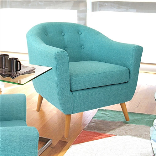 Home > Living Room > Accent Chairs > Turquoise Modern Mid-Century Style Arm C