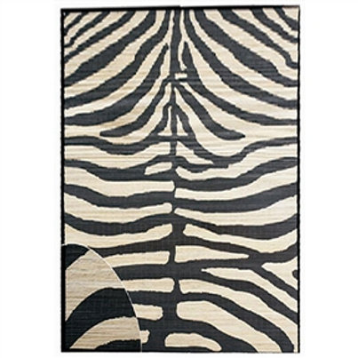 Home > Accents > Rugs > Zebra Hand-Woven bamboo Area Rug (5' x 8')