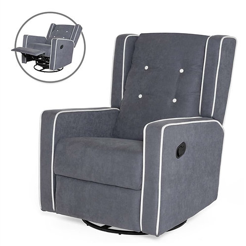 Home > Living Room > Recliners and Leather Recliner > Modern Gray Wingback Po