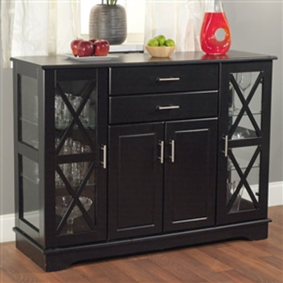Home > Dining > Sideboards & Buffets > Black Wood Buffet Dining-room Sideboar