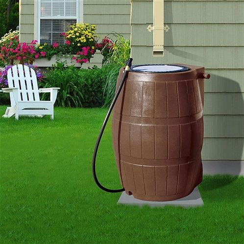 Home > Outdoor > Gardening > Rain Barrels > 50-Gallon Brown UV Resistant Plas