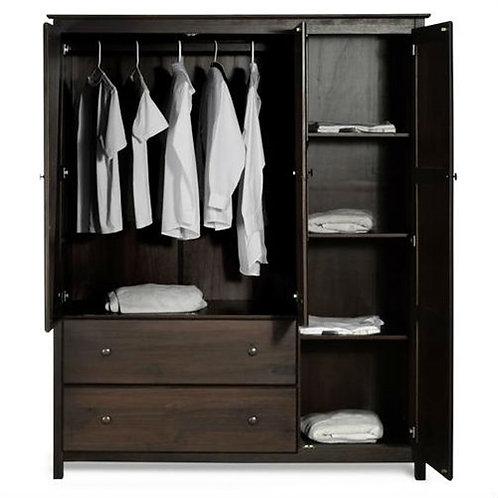 Home > Bedroom > Wardrobe & Armoire > Espresso Wood Finish Bedroom Wardrobe A