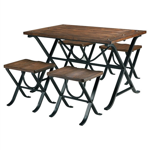 Home > Dining > Dining Sets > Industrial Style 5-Piece Dining Room Set with T