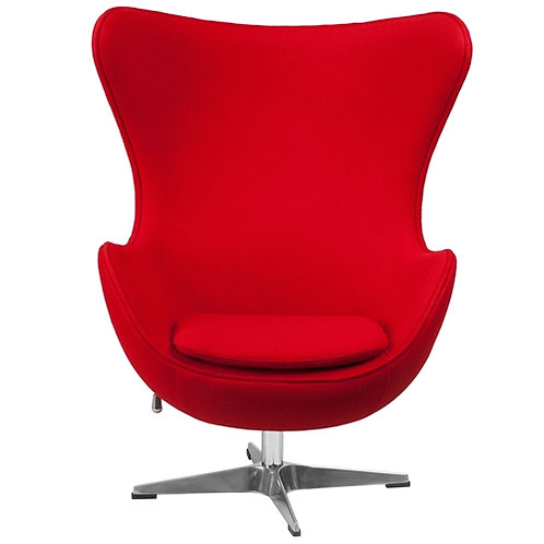 Home > Living Room > Accent Chairs > Red Wool Fabric Contemporary Armchair Eg