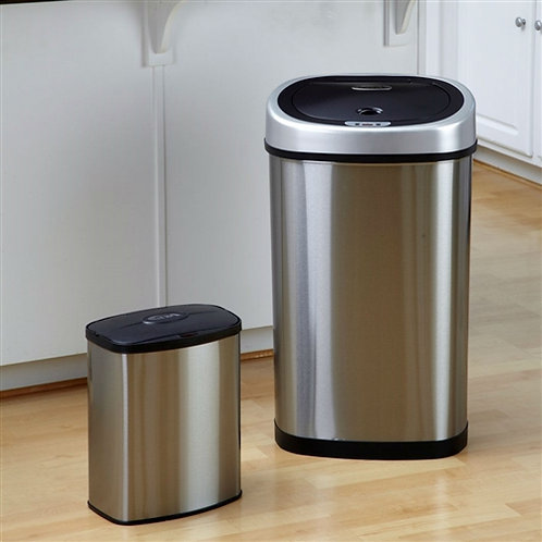 Home > Kitchen > Trash Cans & Recycle Bins > Set of 2 - Stainless Steel Touch