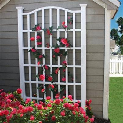 Home > Outdoor > Gardening > Trellises > 7.5 Ft Garden Trellis in White Vinyl