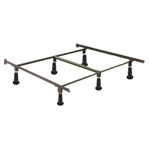 King size High Rise Metal Bed Frame with Headboard Brackets