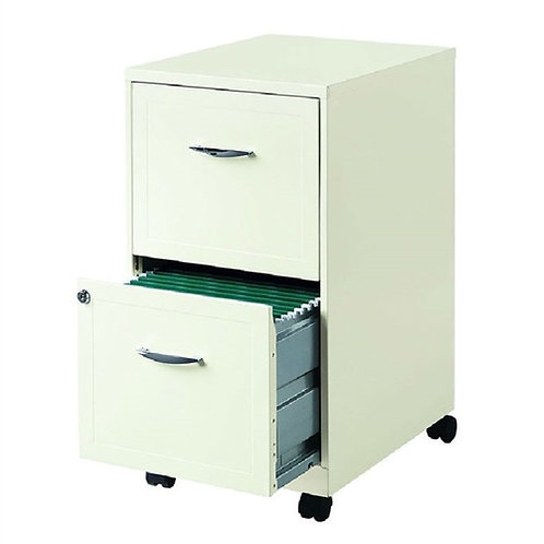 Home > Office > Filing Cabinets > 2-Drawer Pearl White Steel File Cabinet wit