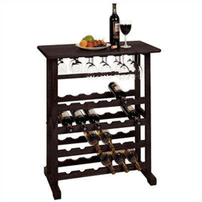 Home > Kitchen > Wine Racks and Coolers > 24-Bottle Wine Rack Table with Stem