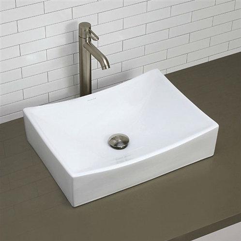 Home > Bathroom > Bathroom Sinks > Modern Rectangular White Ceramic Vessel Ba