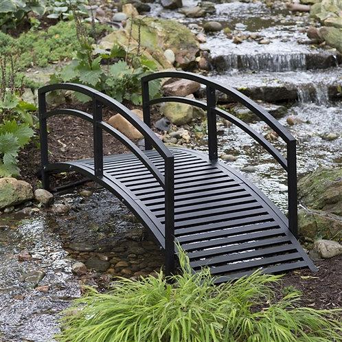 Home > Outdoor > Garden Bridges > Modern 8-Ft Metal Garden Bridge with Arched