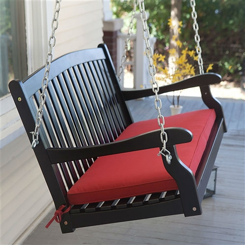 Home > Outdoor > Outdoor Furniture > Porch Swings and Gliders > Black Wood 4-