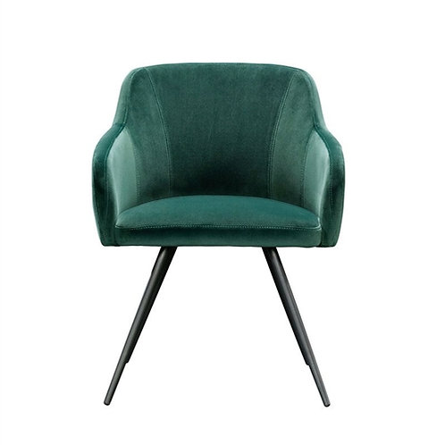 Home > Living Room > Accent Chairs > Emerald Green Upholstered Mid-Century Lo