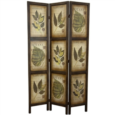 Home > Accents > Room Divider Screens > 3-Panel Double Sided Floral Botany Pl