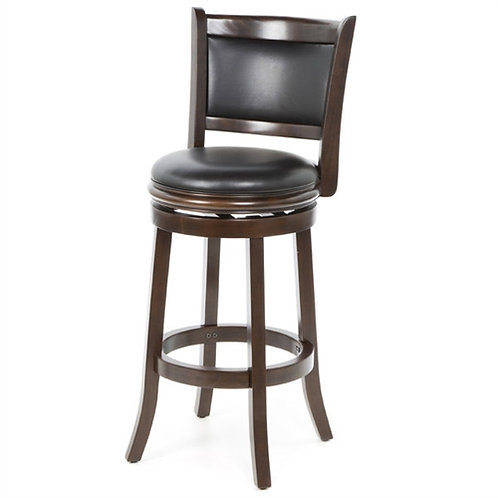 Home > Dining > Barstools > Cappuccino 29-inch Swivel Barstool with Faux Leat