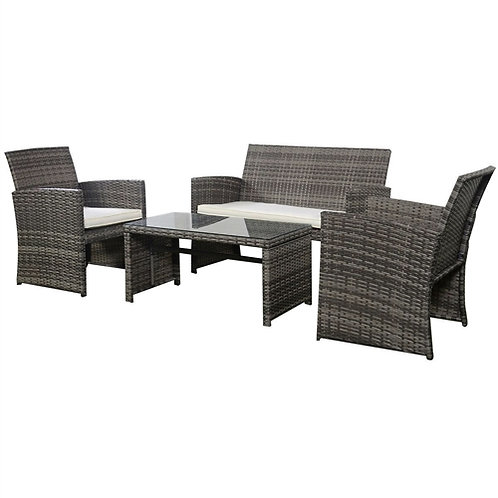 Home > Outdoor > Outdoor Furniture > Patio Furniture Sets > Grey Resin Wicker