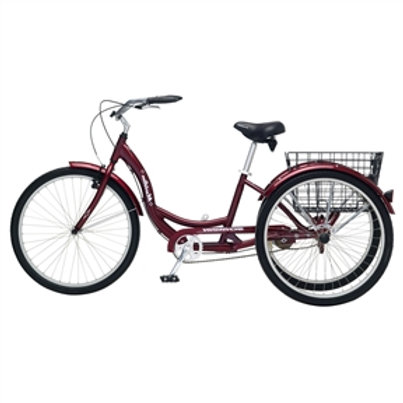 Home > Outdoor > Beach Cruiser Bikes > Black Cherry Single Speed Adult 3-Whee