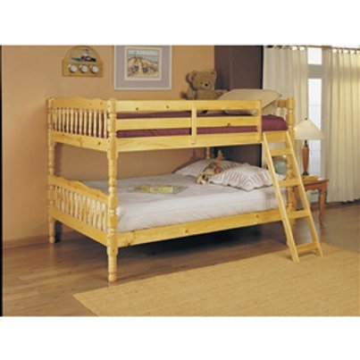 Home > Bedroom > Bed Frames > Bunk Beds > Full Over Full Bunk Bed with Ladder