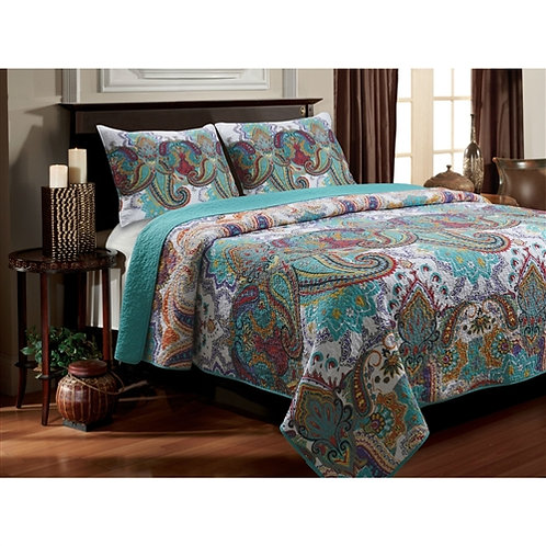 Home > Bedroom > Quilts & Blankets > King size 100-Percent Cotton Quilt Set i