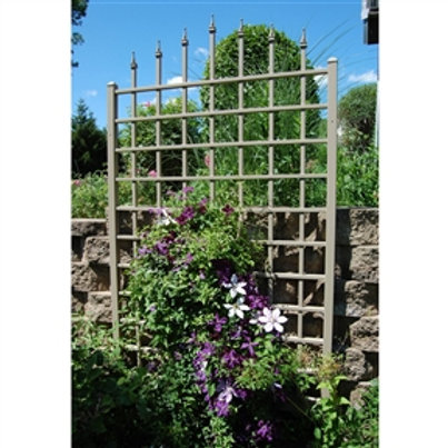 Place the charming 6.25 Ft Wall Trellis in White Vinyl - Made in USA against yo