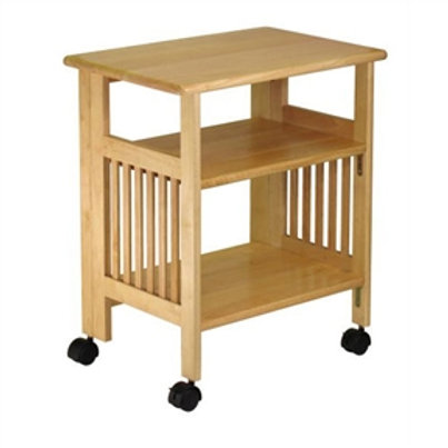 Home > Office > Printer Stands > 3-Shelf Folding Wood Printer Stand Cart in N