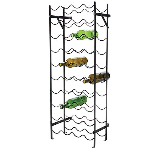 Home > Kitchen > Wine Racks and Coolers > Black Metal 40-Bottle Wine Rack wit
