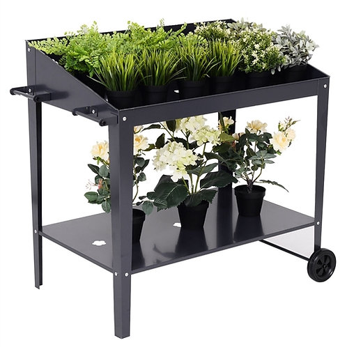 Home > Outdoor > Gardening > Potting Benches > Black Metal Garden Potting Ben