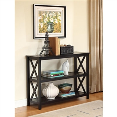 Home > Living Room > Console & Sofa Tables > 3-Tier Black Sofa Table Bookcase