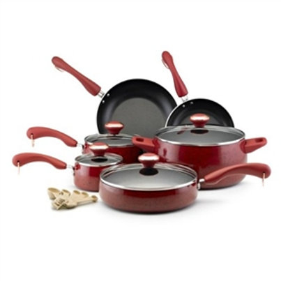 Home > Kitchen > Cookware Sets > 15-Piece Nonstick Porcelain Cookware Set in