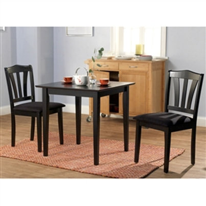 Home > Dining > Dining Sets > 3-Piece Wood Dining Set with Square Table and 2