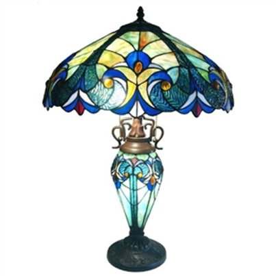 Home > Lighting > Table Lamps > 3-Light Victorian Tiffany Style Multi-Colored