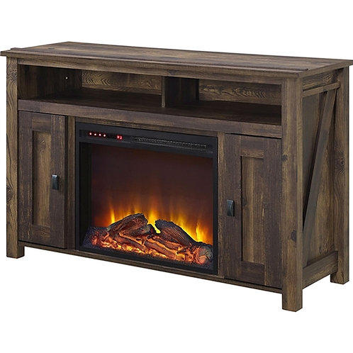 Home > Accents > Electric Fireplaces > 50-inch TV Stand in Medium Brown Wood