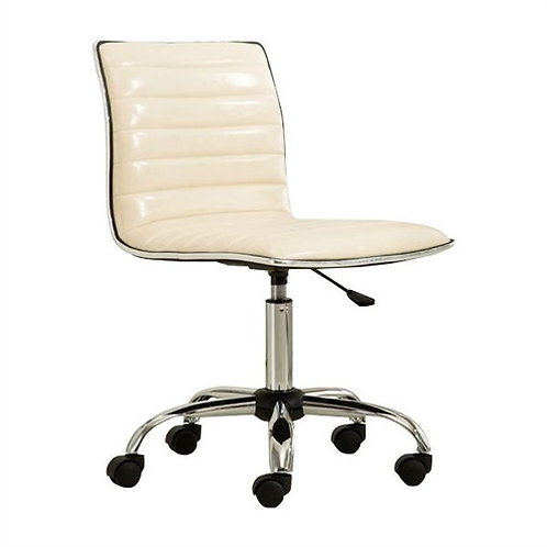 Home > Office > Office Chairs > Heavy Duty Beige Channel-Tufted Conference Ch